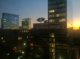 View from the lab at night